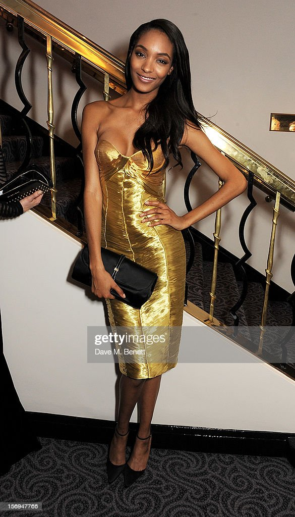 Jourdan Dunn attends an after party following the 58th London Evening Standard Theatre Awards in association with Burberry at The Savoy Hotel on November 25, 2012 in London, England.