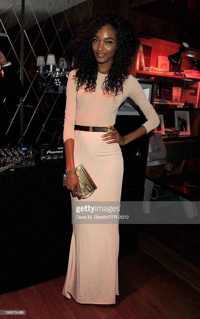 Jourdan Dunn attends as Naomi Campbell hosts an Olympic Celebration Dinner in partnership with Fashion For Relief, Interview Magazine and Downtown Mayfair celebrating the amazing accomplishments of Team GB on August 9, 2012 in London, United Kingdom. Guest joined event hosts Naomi, Vladislav Doronin and Giuseppe Cipriani at London's Downtown Mayfair. 'The 2012 Olympics have been remarkable - I am elated for Team GB and the extraordinary success they have had so far. It's a very special and proud time to be in London and to celebrate the outstanding talent, which has been showcased during the games. I wish everyone taking part in London 2012 continued strength, determination and perseverance for the remainder of the games.'