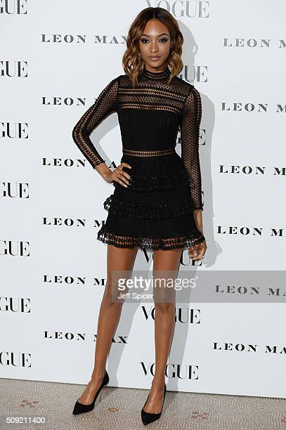 Jourdan Dunn attends at Vogue 100 A Century Of Style at the National Portrait Gallery on February 9 2016 in London England