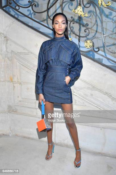 Jourdan Dunn attends Kenzo La Collection Momento N°1 event at Kenzo Headquarters on March 1 2017 in Paris France
