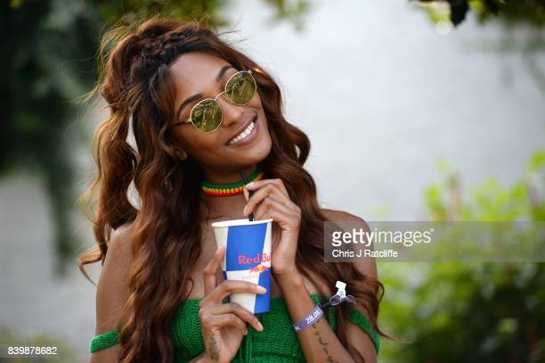 Jourdan Dunn attends 'Red Bull Music Academy Soundsystem' at Notting Hill Carnival 2017 on August 27 2017 in London England
