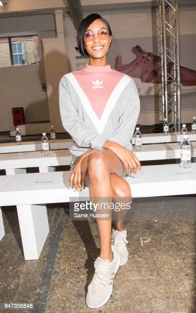 Jourdan Dunn attends Streets of EQT a fashion show celebrating street style at The Old Truman Brewery on September 15 2017 in London England