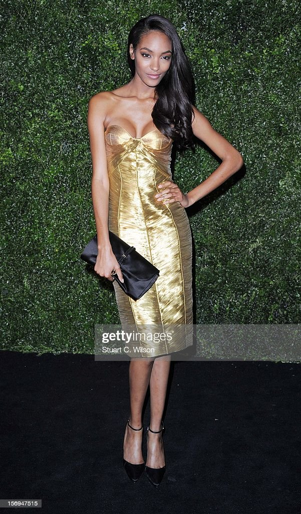 Jourdan Dunn attends the 58th London Evening Standard Theatre Awards in association with Burberry on November 25, 2012 in London, England.