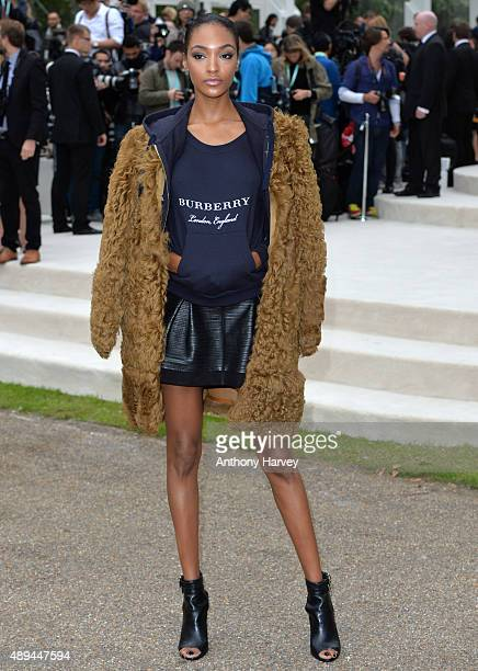 Jourdan Dunn attends the Burberry Prorsum show during London Fashion Week Spring/Summer 2016/17 on September 21 2015 in London England
