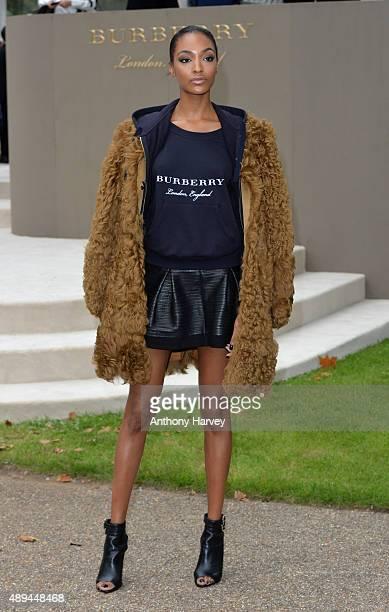 Jourdan Dunn attends the Burberry Prorsum show during London Fashion Week Spring/Summer 2016/17 on September 21 2015 in London England
