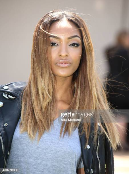Jourdan Dunn attends the Burberry Prorsum show during the London Collections Men SS15 on June 17 2014 in London England