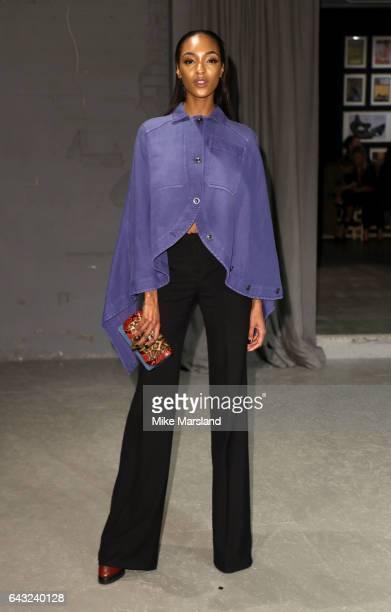 Jourdan Dunn attends the Burberry show during the London Fashion Week February 2017 collections on February 20 2017 in London England