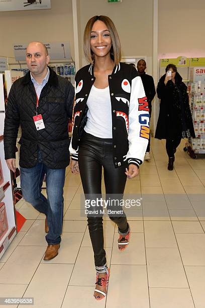 Jourdan Dunn attends the Jourdan Dunn at LFW with Maybelline New York press event at Boots Westfield on February 20 2015 in London United Kingdom