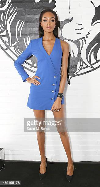 Jourdan Dunn attends the Versus show during London Fashion Week SS16 at Victoria House on September 19 2015 in London England