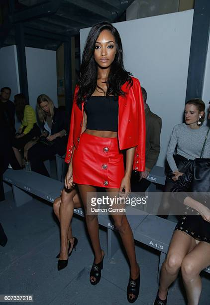 Jourdan Dunn attends the Versus Versace show during London Fashion Week Spring/Summer collections 2016/2017 on September 17 2016 in London United...