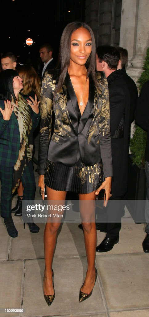 Jourdan Dunn attends the W Magazine September issue party at The London EDITION hotel on September 14, 2013 in London, England.