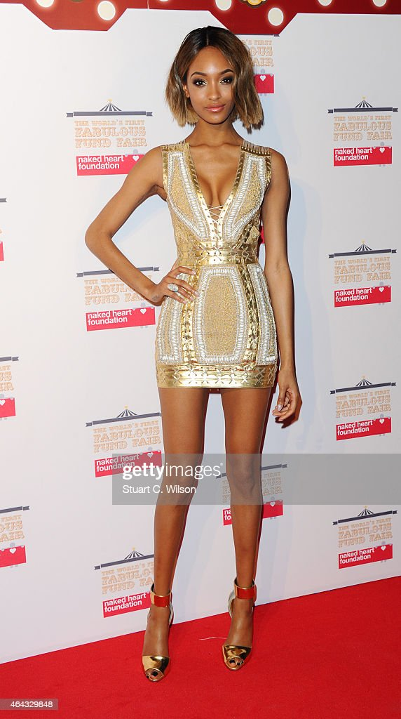 Jourdan Dunn attends The World's First Fabulous Fund Fair in aid of The Naked Heart Foundation at The Roundhouse on February 24, 2015 in London, England.