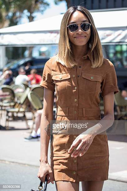 Jourdan Dunn is seen during The 69th Annual Cannes Film Festival on May 19 2016 in Cannes France