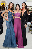 Jourdan Dunn Kendall Jenner and Joan Smalls arrive for the amfAR 22nd Annual Cinema Against AIDS Gala at Hotel du CapEdenRoc on May 21 2015 in Cap...