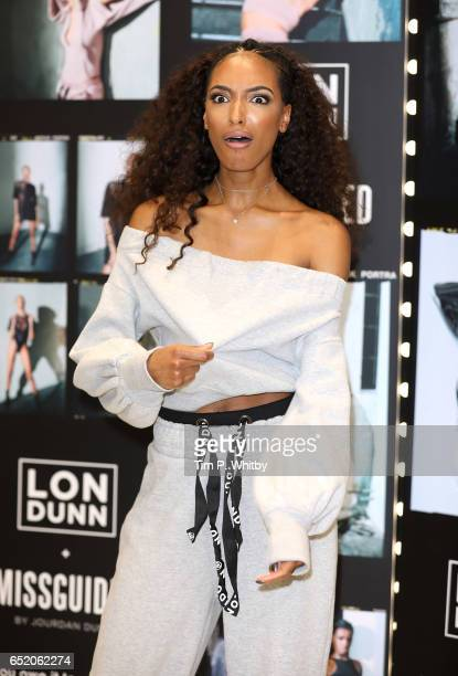 Jourdan Dunn launches the 'Lon Dunn Missguided' collection at Missguided's Westfield Store on March 11 2017 at Westfield Stratford in London United...