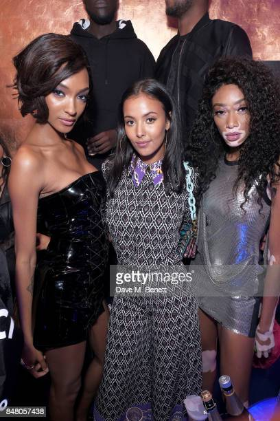 Jourdan Dunn Maya Jama and Winnie Harlow attend LON DUNN x Missguided Official Launch Party Hosted by Jourdan Dunn at The London Reign on September...