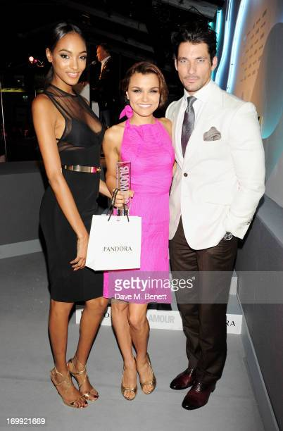 Jourdan Dunn Pandara Breakthrough winner Samantha Barks and David Gandy pose at the Glamour Women of the Year Awards in association with Pandora at...