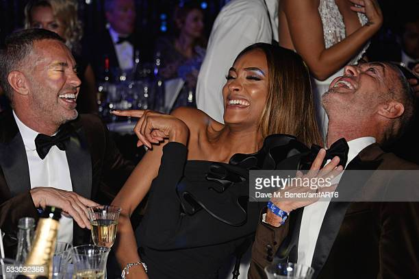 Jourdan Dunn poses with Dean Caten and Dan Caten at amfAR's 23rd Cinema Against AIDS Gala at Hotel du CapEdenRoc on May 19 2016 in Cap d'Antibes...