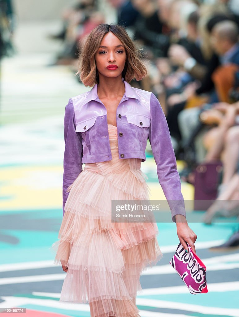 Jourdan Dunn walks the runway at the Burberry Prorsum show during London Fashion Week Spring Summer 2015 at on September 15 2014 in London England