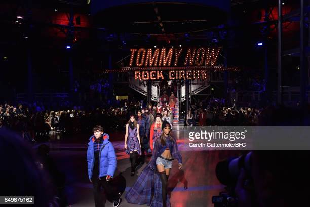 Jourdan Dunn walks the runway at the Tommy Hilfiger show during London Fashion Week September 2017 on September 19 2017 in London England