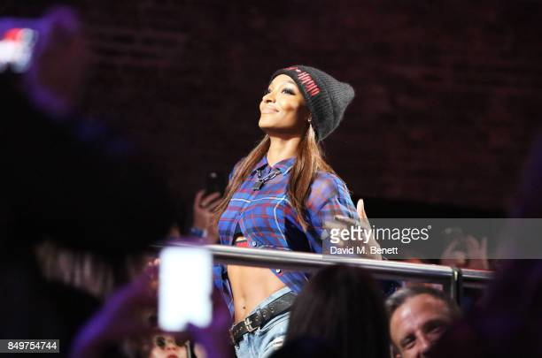 Jourdan Dunn walks the runway at the Tommy Hilfiger TOMMYNOW Fall 2017 Show during London Fashion Week September 2017 at The Roundhouse on September...