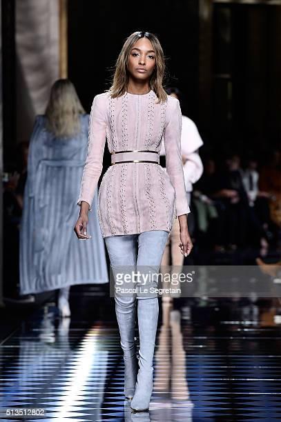 Jourdan Dunn walks the runway during the Balmain show as part of the Paris Fashion Week Womenswear Fall/Winter 2016/2017 on March 3 2016 in Paris...