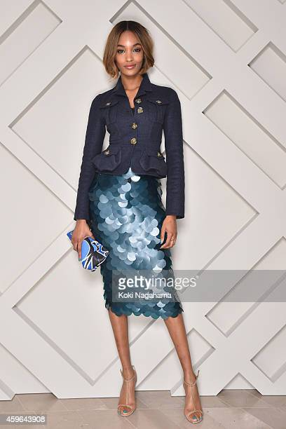 Jourdan Dunn wearing Burberry at the Burberry Omotesando Store Opening event on November 27 2014 in Tokyo Japan