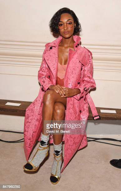 Jourdan Dunn wearing Burberry at the Burberry September 2017 at London Fashion Week at The Old Sessions House on September 16 2017 in London England