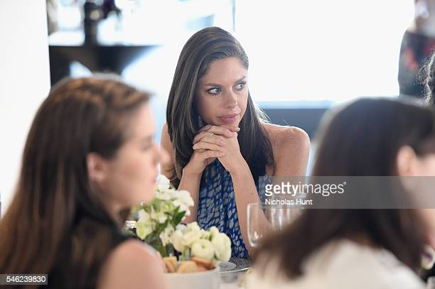Journalist Abby Huntsman attends a luncheon hosted by Glamour and Facebook to discuss the 2016 election at Samsung 837 in NYC on July 11 2016 in New...