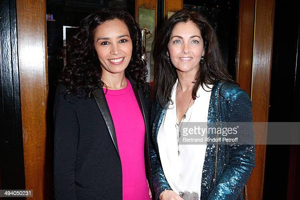 Journalist Aida Touihri and actress Cristiana Reali attend the 'Mugler Follies' 100th Edition at Le Comedia in Paris on May 26 2014 in Paris France