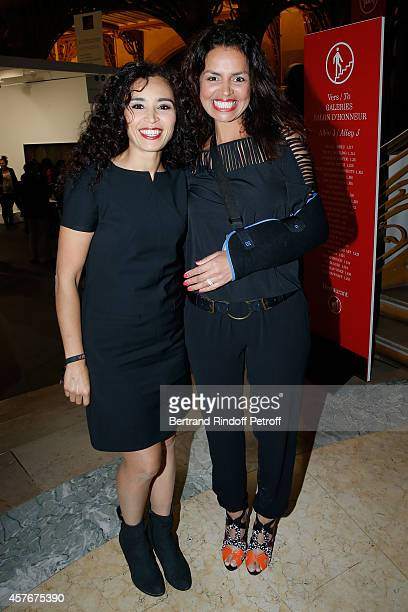 Journalist Aida Touihri and Laurence Roustandjee attend the FIAC 2014 International Contemporary Art Fair Official Opening at Le Grand Palais on...