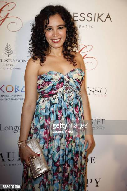 Journalist Aida Touihri attends Global Gift Gala 2017 at Hotel George V on May 16 2017 in Paris France
