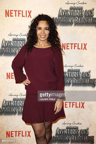 Journalist Aida Touihri attends Netflix TV Series 'les Aventures des Orphelins Baudelaire' Paris Premiere at Bibliotheque Nationale de France...