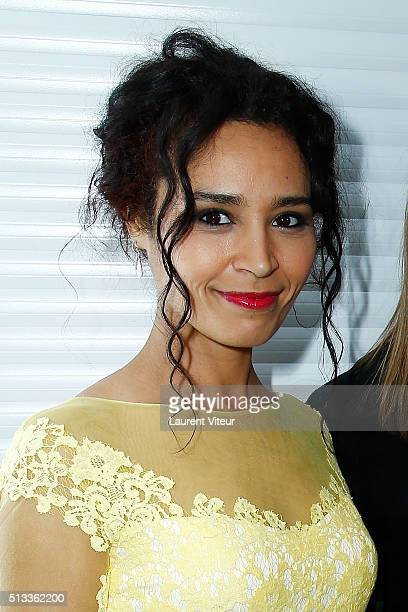 Journalist Aida Touihri attends the Christophe Guillarme show as part of the Paris Fashion Week Womenswear Fall/Winter 2016/2017 at Pub Renault on...