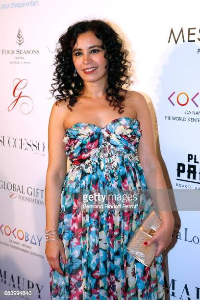 Journalist Aida Touihri attends the 'Global Gift the Eva Foundation' Gala Photocall at Hotel George V on May 16 2017 in Paris France