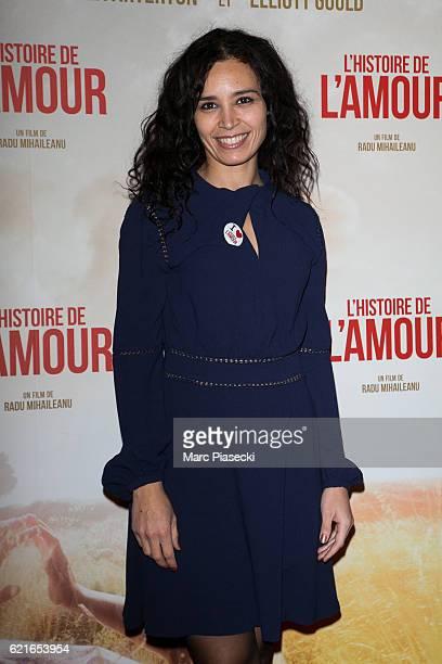 Journalist Aida Touihri attends the 'L'Histoire de l'Amour' Premiere at Gaumont Capucines on November 7 2016 in Paris France
