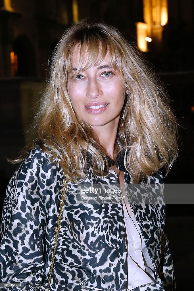 Journalist Alexandra Golovanoff arriving at Lanvin show as part of the Paris Fashion Week Womenswear Spring/Summer 2014, held at 'Ecole des beaux Arts' on September 26, 2013 in Paris, France.