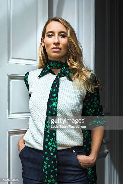 Journalist Alexandra Golovanoff is photographed for Madame Figaro on July 10 2015 in Paris France PUBLISHED IMAGE CREDIT MUST READ Louis...
