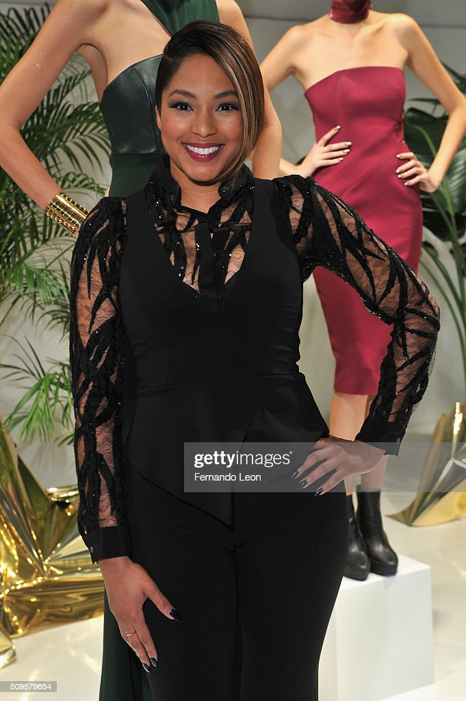 Journalist Alicia L Quarles poses at Jay Godfrey Fall 2016 during New York Fashion Week: The Shows at The Space, Skylight at Clarkson Square on February 11, 2016 in New York City.