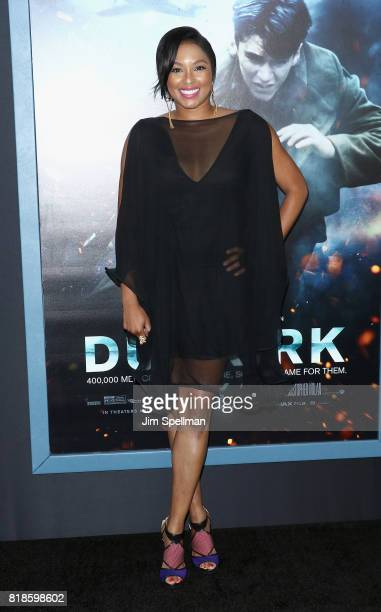 Journalist Alicia Quarles attends the 'DUNKIRK' New York premiere at AMC Lincoln Square IMAX on July 18 2017 in New York City