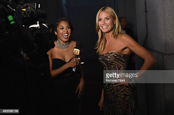 Journalist Alicia Quarles interviews Model Heidi Klum Angel Ball 2015 hosted by Gabrielle's Angel Foundation at Cipriani Wall Street on October 19...