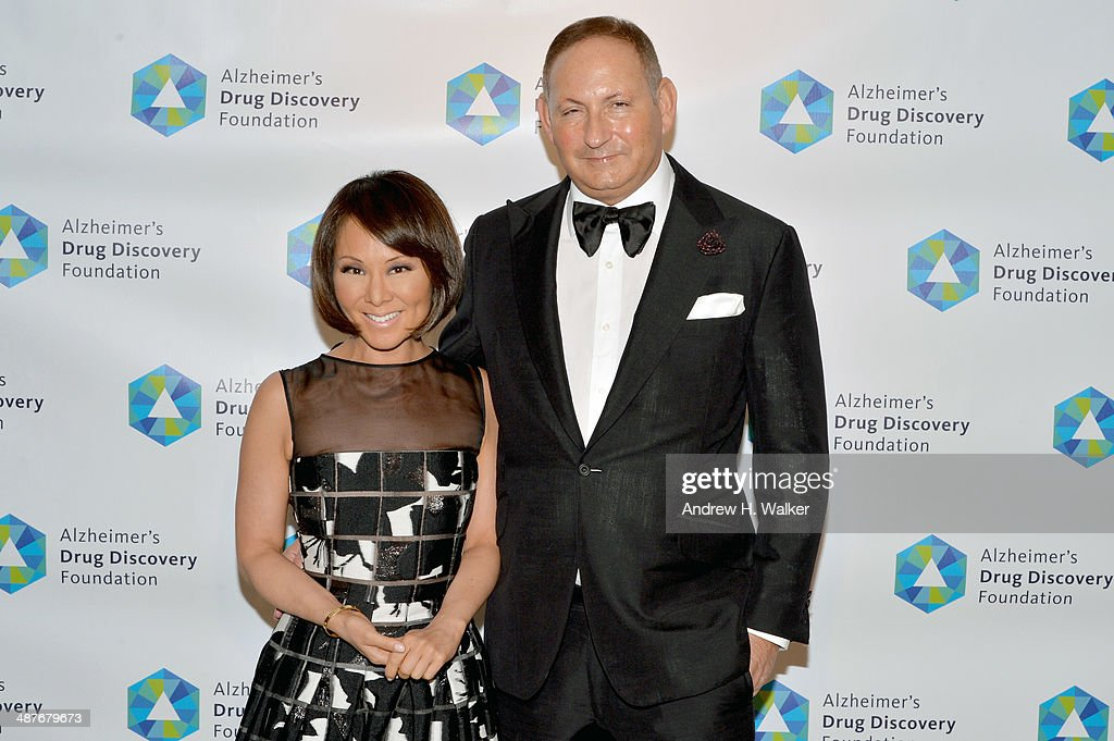 Journalist Alina Cho and <a gi-track='captionPersonalityLinkClicked' href=/galleries/search?phrase=John+Demsey&family=editorial&specificpeople=215290 ng-click='$event.stopPropagation()'>John Demsey</a> attend Alzheimer's Drug Discovery Foundation eighth Annual Connoisseur's Dinner at Sotheby's on May 1, 2014 in New York City.