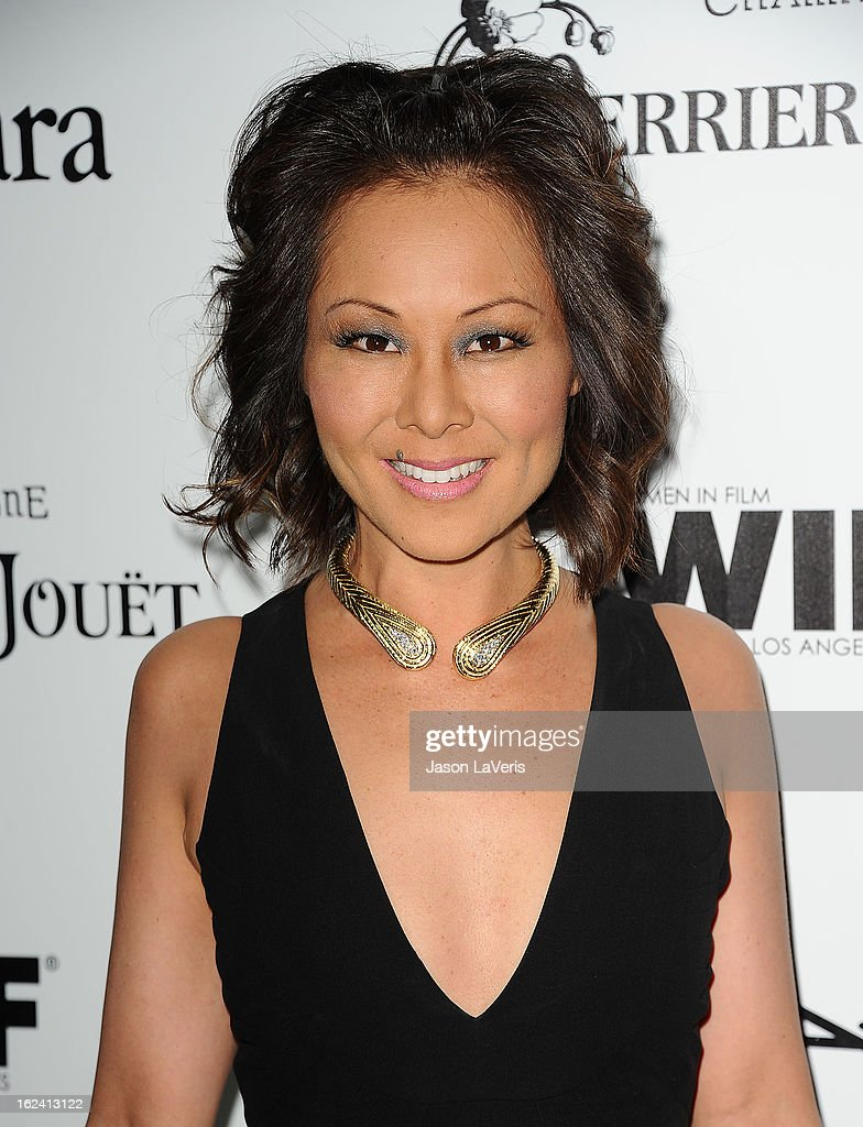 Journalist Alina Cho attends the 6th annual Women In Film pre-Oscar cocktail party at Fig & Olive Melrose Place on February 22, 2013 in West Hollywood, California.