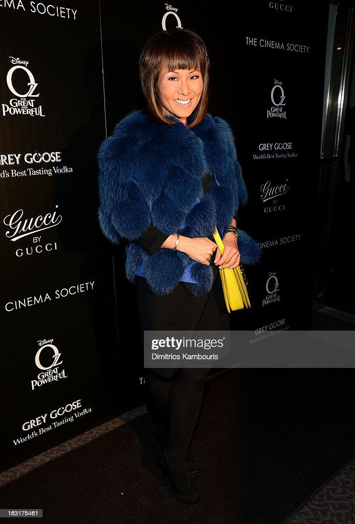 Journalist Alina Cho attends the Gucci and The Cinema Society screening of 'Oz the Great and Powerful' at DGA Theater on March 5, 2013 in New York City.