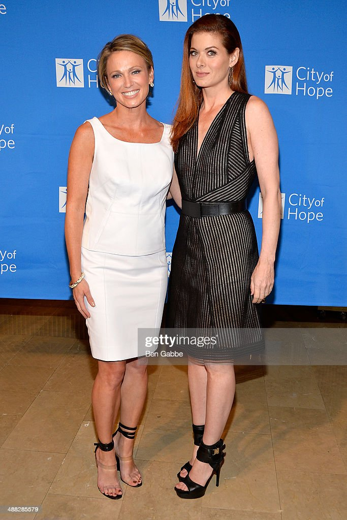 Journalist Amy Robach (L) and actress Debra Messing attend 2014 'Spirit Of Life' Awards Luncheon at The Plaza Hotel on May 5, 2014 in New York City.