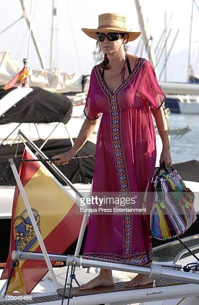 Journalist Ana Rosa Quintana is seen sighting on July 29 2011 in Marbella Spain