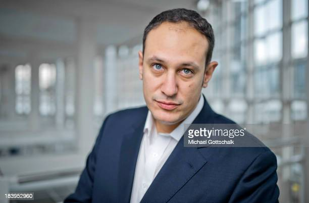 Journalist and author Daniel DylanBoehmer poses during a portrait session at the 2013 Frankfurt Book Fair on October 10 2013 in Frankfurt Germany...