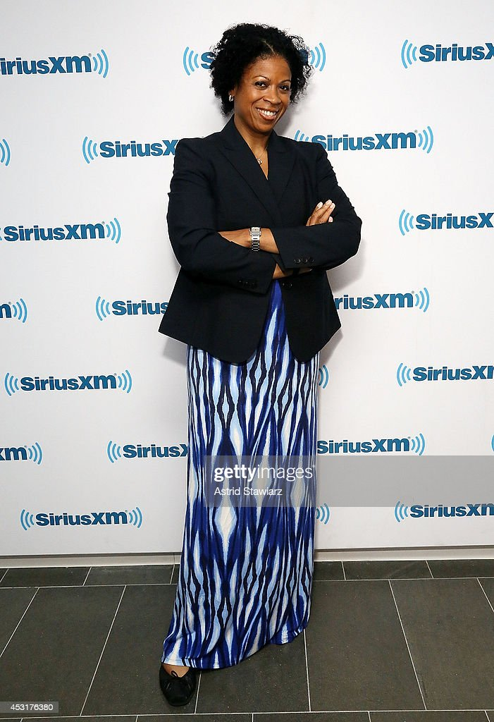 Journalist and author Karen Hunter visits the SiriusXM Studios on August 4, 2014 in New York City.