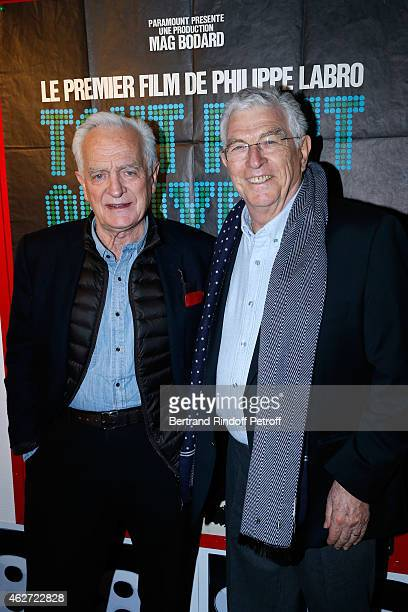 Journalist and Director Philippe labro and Actor JeanClaude Bouillon attend the Private Screening of the Movie 'Tout Peut Arriver' at Mac Mahon...