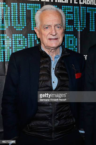 Journalist and Director Philippe labro attends the Private Screening of the Movie 'Tout Peut Arriver' at Mac Mahon Cinema on February 3 2015 in Paris...